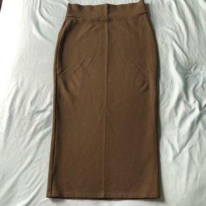Charlotte Russe Olive Green Pencil Skirt